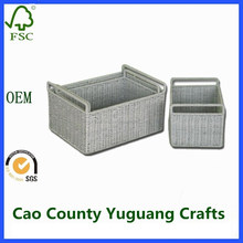 PP paper plate weaving rattan laundry baskets for wholesale