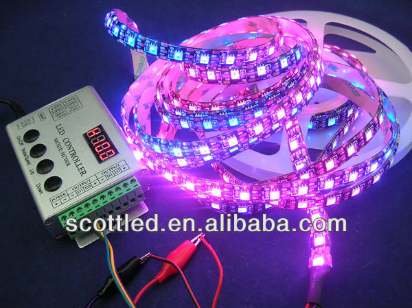 addressable ws2811 RGB LED Strip,64LED/m 5050 addressable rgb retainer strip