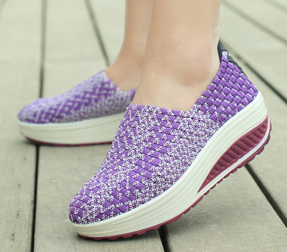 2017New Style Spring Hand Making Thin Platform Women Loafers Shoes Woven Shoes Flat Casual Shoes