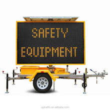 Outdoor WEB Remote Control Mobile Full Colour Traffic LED VMS Trailer Signs