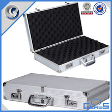 Tools Packaging High quality super sponge coded lock briefcase silver aluminum gun boxes