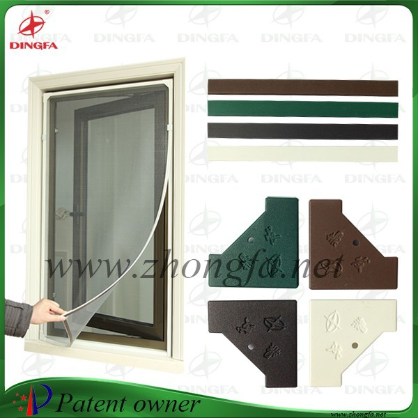 Creative and low cost window screen with pvc frame buy for Pvc window frame