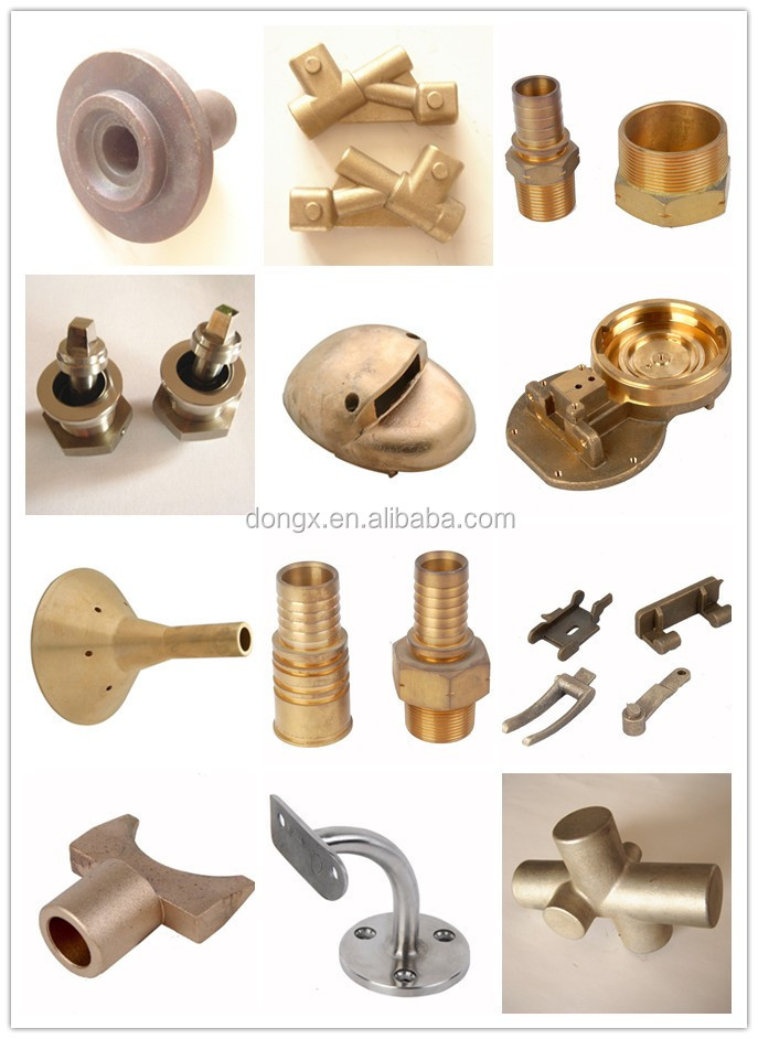 OEM products custom metal components precision die casting China brass intake manifold