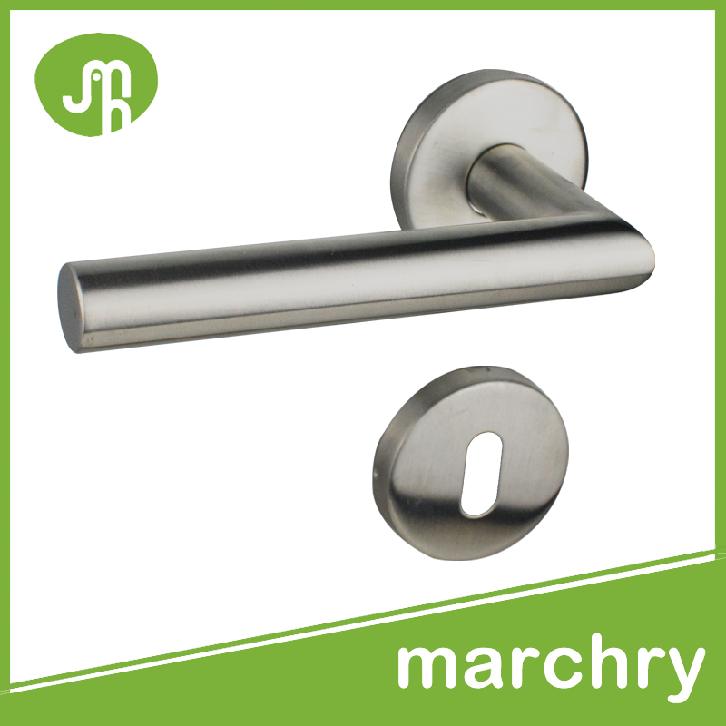 MH-0104 304 Stainless Steel Tube Lever Door Handle