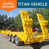 heavy duty low bed trailer semi trailer 100T transport machine