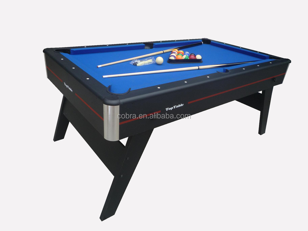 6ft Or 7ft Single Moveable And Folding Pool Tables With