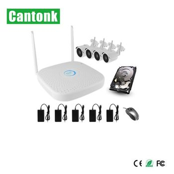 4ch nvr kits CCTV ip camera wifi security mini camera power over ethernet wireless kits