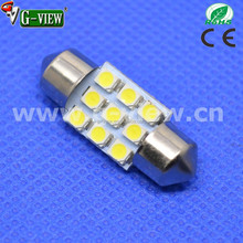 Hot sale 31mm festoon 9SMD 1210 Automotive interior led lamp