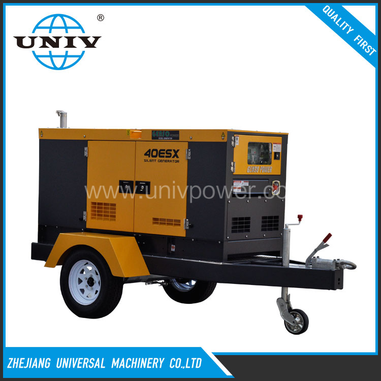 2017 50hz china 68kw mobile trailer genset on sale