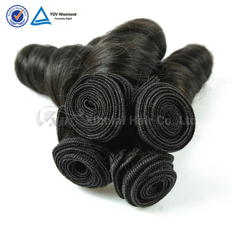 2015 New XBL hair full cuticle virgin remy hair egg curl hair