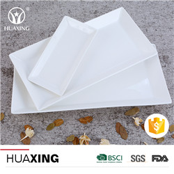 wholesale bulk fold edge divided ceramic dinner plates with white color