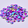 4 5 6 10mm Purple AB Rivoli Crystal Rhinestone Applique Flatback Acrylic Gems Round Crystal Stones Non Hotfix Strass for Clothes