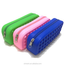 School Stationary Gift Bag Promotion Eco Friendly Silica Cheap Wholesale Pencil Case