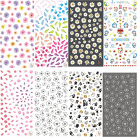Nail Art DIY Design Super Thin 3D Back Adhesive LY Series Kids Korean Nail Stickers