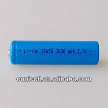 Lithium Ion 3.6v battery 18650 with tabs rechargeable
