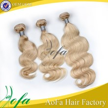 blonde peruvian hair loose wave grade7a hair weave color #613