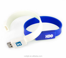 Customised Rubber silicone usb bracelet USB wristband 1GB 2giga 8GB Flash drive