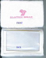 Contemporary promotional cotton wrist coach with pvc pocket