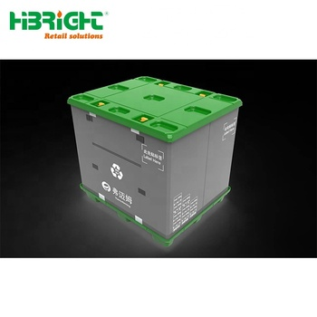 folding collapsible sleeve pallet container