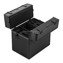 Aluminum 9 Compartments Weapon Case Pistol Box