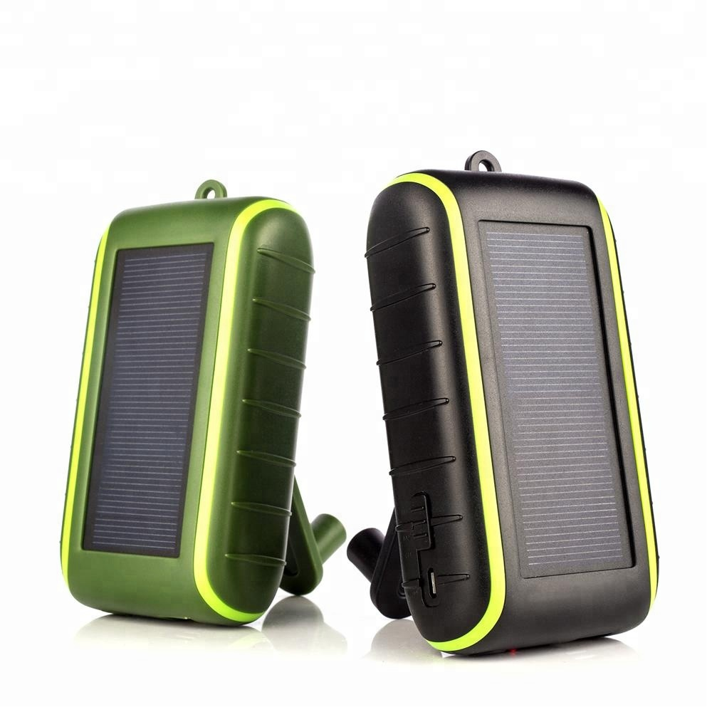 New Premium CE RoHS FCC Solar <strong>Mobile</strong> Phone Charger Hand Crank Dynamo Power Bank with Flashlight