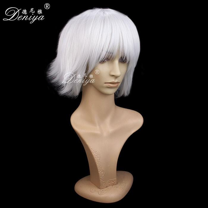 New Arrival Japanese Anime Cosplay Wig Men S Short White