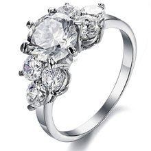 Hot sale female marry ring girlfriend wedding ring