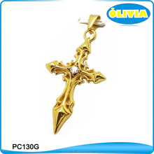 Olivia Hot Sale Gold Jesus Piece Pendant Cross For Women