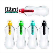 Outdoor Sport Portable Plastic Purifier Water Filter Bottle