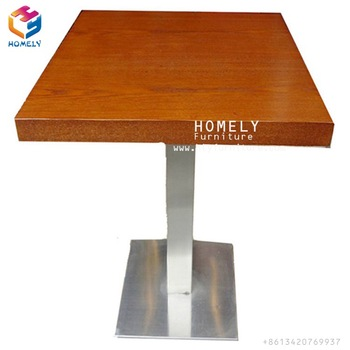 Round folding coffee shop mdf coffee table for cafe