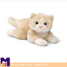 new design long leg cat of plush toy with sound custom made toy with high quality