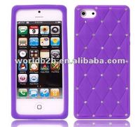Newest Luxury Diamond Multi-color Silicone case for Apple Iphone 5G