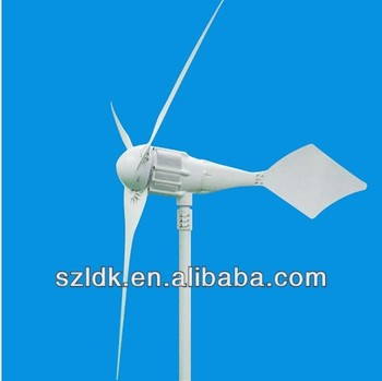 3\5blades 1kw wind turbines usage at house\office lower loading power