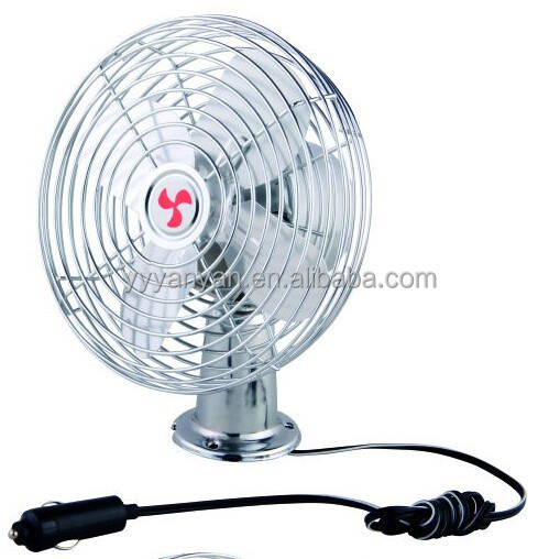 6 INCH DELUXE METAL CAR/AUTO FAN 12V/24V DC