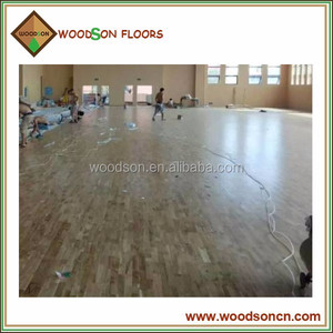 Quality Natural Fingerjoint Maple Solid Sports Flooring