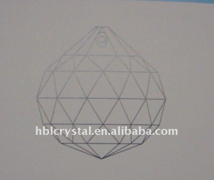 K9 transparent clear Crystal faceted Ball prism pendant HBl 1502