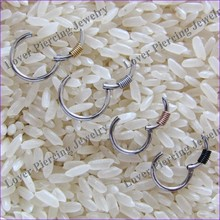Hot Sales High Polish Stainless Steel Septum Clicker Piercing Ring [SJ-079]