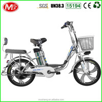 2016 36V 10AH/48V 8AH OEM/ODM Al Alloy Frame YLang Princess Series Electric Bike