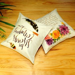 Custom design 100% cotton digital printed cushion pillow