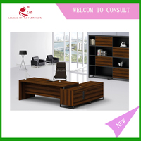 School Wooden Cheap Computer Desk , Desktop Computer Table Designs For Teacher And Students