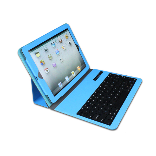 Super thin newest design For Ipad Air 2 mini pro wireless bluetooth Keyboard With leather case