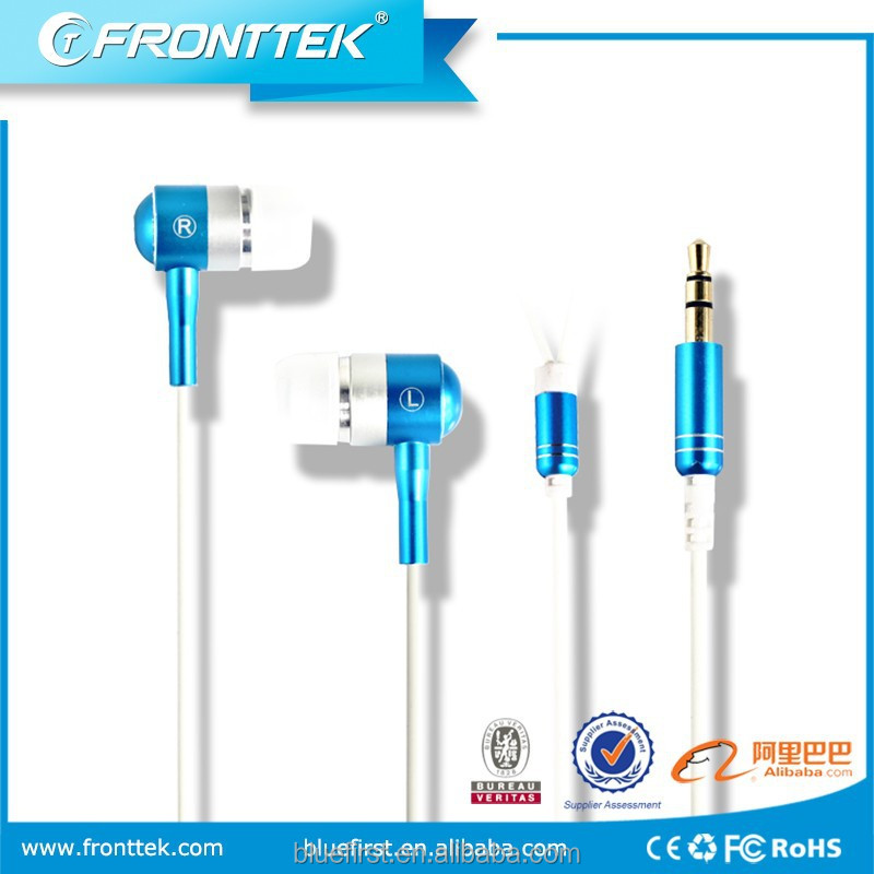 MP3 earpods earphone long wire with stereo flat cable earphone made in china supplier