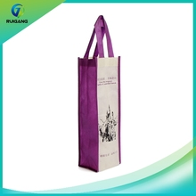 customized fashionable non woven wine tote bag