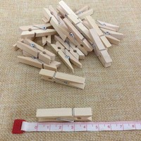 Plain Wood Hanging Photo Clip Clothes Laundry Clip Peg Pin Small 4.5CM