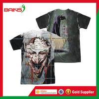 China supplier customized funny plain sublimation polyester t-shirt printing