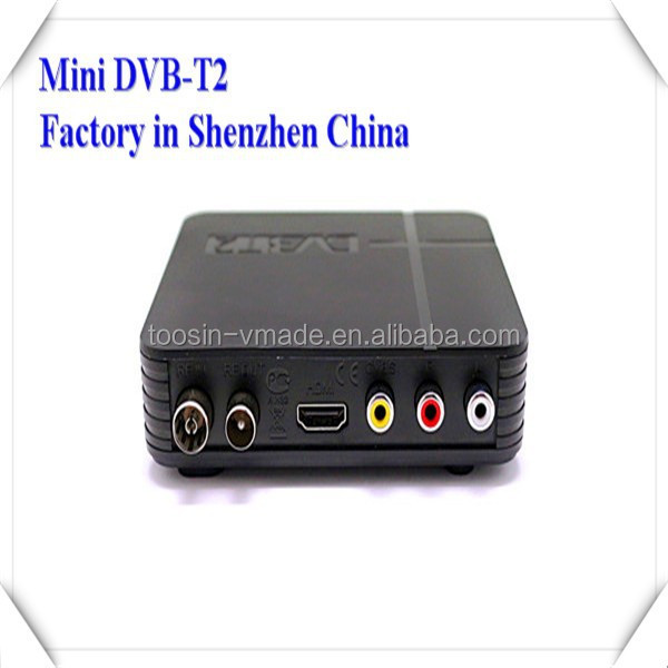 New Arrival!! TOOSIN/OEM HD FTA dvb-t2 receiver, full hd mini dvb t2 Terrisal receiver set top box