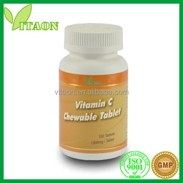 1000 mg ISO GMP Certificate and OEM Private Label Vitamin C for Face Tablets