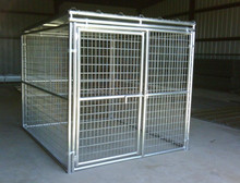 Heavy Duty Dog Kennels in Hot dipped galvanized or in black