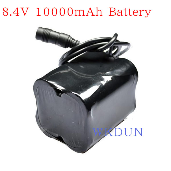 8.4V 10000mAh 4x26650 Battery Set For LED Bike Light