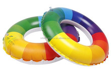 Rainbow colors Swim ring inflatable swim ring for adult and children pool inflatable water swimming neck ring